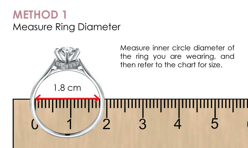Audrey S Diamond Ring Size Guide