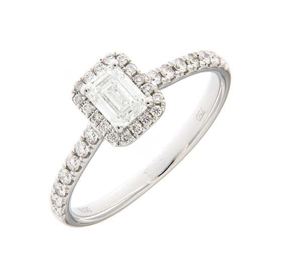 18K WHITE GOLD DIAMOND SETTING