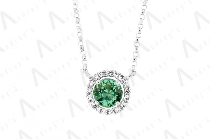 18 KARAT DIAMOND AND GEMSTONE NECKLACE