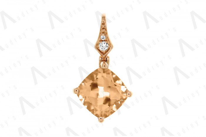 18 KARAT DIAMOND AND GEMSTONE PENDANT