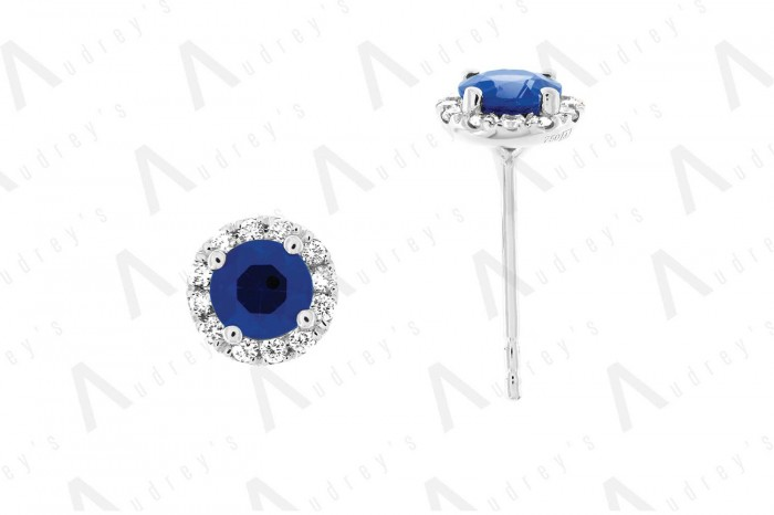 18 KARAT DIAMOND AND GEMSTONE EARRING