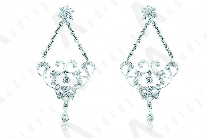 18K WHITE GOLD EARRING