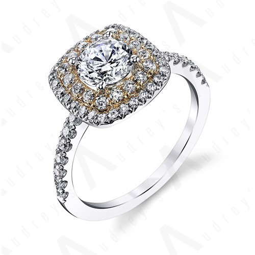 18K DOUBLE HALO RING