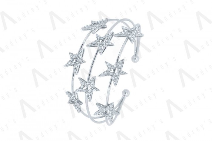 18 KARAT DIAMOND BANGLE