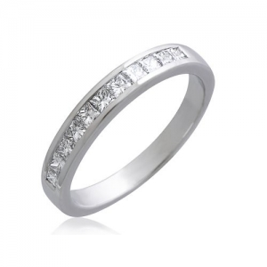18K WHITE GOLD DIAMOND BAND
